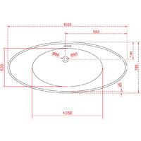 Bañera islote VICE de acrílico sanitario - blanco brillante - 183,5 x 78,5 x 77 cm