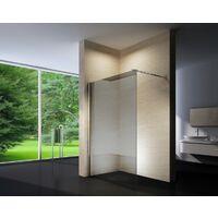 Cabina de ducha fijo lateral de vidrio, ahumado, EX101, medida a elegir:1400mm