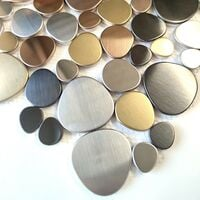 Pebbles Tiles and mosaic for floor or wall of shower and bathroom Leola
