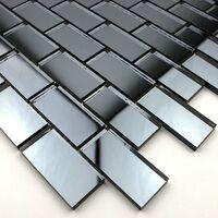 Mosaic tile mirror kitchen backsplash and bathroom Brillo Gris