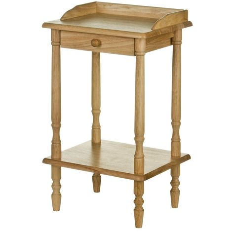 Telephone Table,Tropical Hevea Wood,With Drawer
