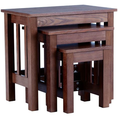 Lincoln Nesting Tables, Set of 3, Walnut