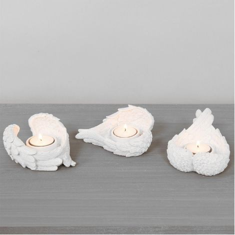 Thoughts Of You Cherub Wing Set of 3 Tealight Holder