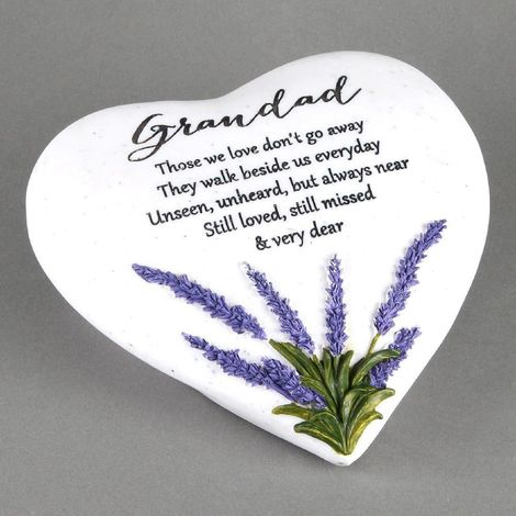 Thoughts Of You 'Grandad' Memorial Heart Stone