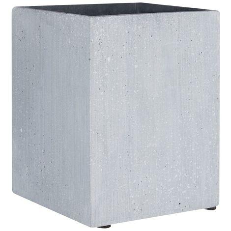 Vase,Grey polyresin,small square