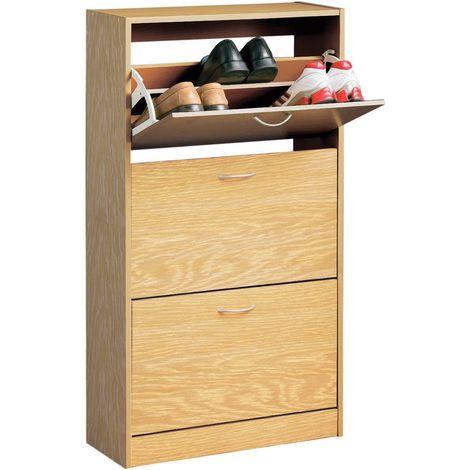 Shoe Cupboard,Norsk,3 Drawer Oak Veneer