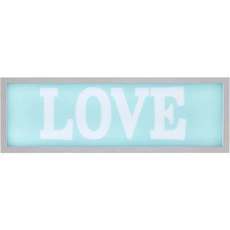 LED Light Box, Love, MDF / PS - Polystyrene