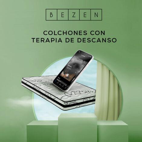 Colchón Viscoelástico Termoregulable con Grafeno 80X190 - Blanco y gris