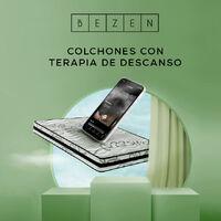 Colchón Viscoelástico Termoregulable con Grafeno 90X190   - Blanco y gris