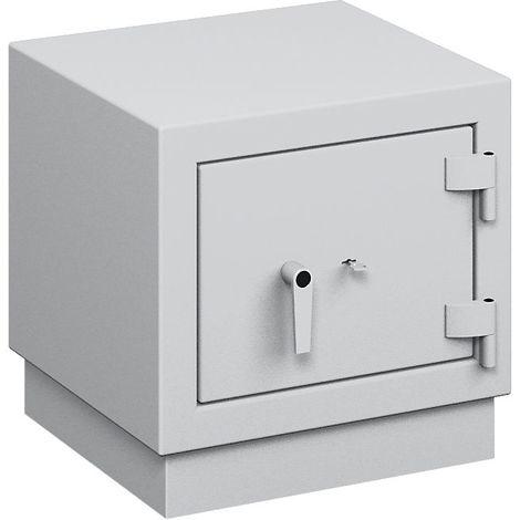 Coffre ignifuge pour papier à parois multiples - classe de sécurité B, protection anti-feu S 120 P - h x l x p ext. 590 - gris clair RAL 7035