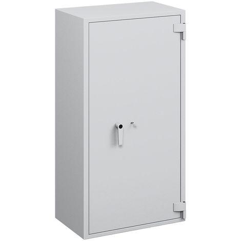 Coffre ignifuge pour papier à parois multiples - classe de sécurité B, protection anti-feu S 60 P, l x p 704 x 471 mm - - gris clair RAL 7035