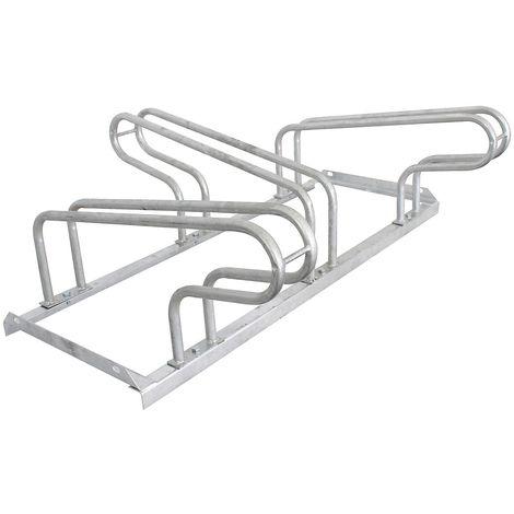 Range-vélos galvanisé, utilisable sur deux côtés – 3 places