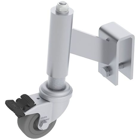 Train de roulement pour marchepied de montage - 4 roulettes autobloquantes - Ø roulettes 50 mm