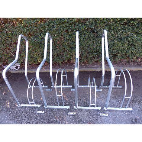 Range–vélos à arceaux, 4 emplacements - galvanisé à chaud