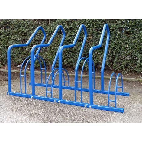 Range–vélos à arceaux, 4 emplacements - peint
