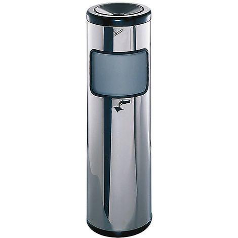 Combiné cendrier-poubelle, hauteur 800 mm capacité 24 litres - Coloris des cendriers: Inox