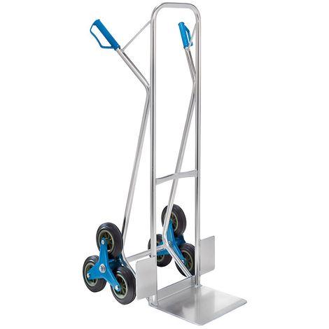 Diable en aluminium EASY - diable pour escaliers - force 100 kg
