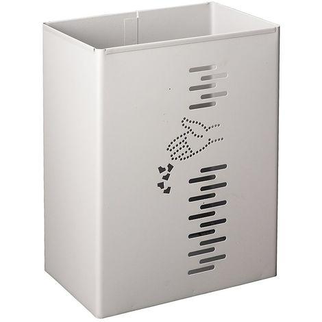 Poubelle rectangulaire | acier galvanisé à chaud peint époxy | Revêtement époxy | gris | 24 litres | 300x197x400 | Pivo - Gris
