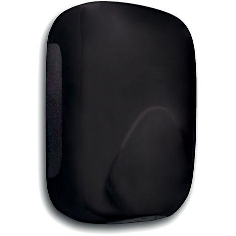 Sèche-mains à air pulsé | ABS | Revêtement époxy | Noir | 900 W | 156x99x238 | Mini Zefiro | 1 pièce | medial - Noir