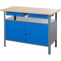 Établi avec tiroirs – Charge max. 250 kg - Coloris: Bleu