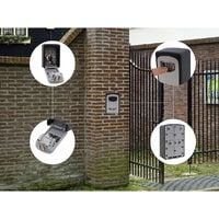 Boîte à clés sécurisée | Code à 4 chiffres | HxLxP 122 x 87 x 40 mm | newpo