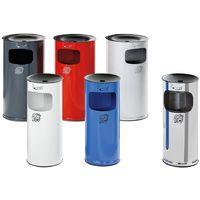 Cendrier sur pied en inox avec poubelle - hauteur 710 mm - capacité poubelle 44 l - Coloris poubelle: acier inoxydable