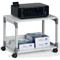 Table pour imprimante et de rangement passe-partout de Durable - 2 tablettes - argent / hêtre - Coloris piétement: argent|Coloris plateau: Hêtre