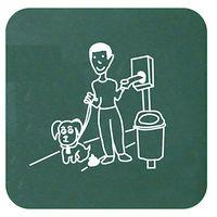 Plaque signalétique | acier galvanisé à chaud peint époxy | Revêtement époxy | verdoyant | 150x20x150 | Snupy | 1 pièce - Vert