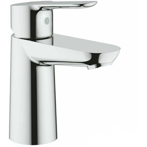 GROHE 23330 BauEdge Monobloc Single Lever Basin Mixer, No Waste, Chrome 23330000