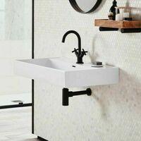 Black Matt Modern Round Bottle Trap Waste Bathroom Basin Sink Adjustable Height