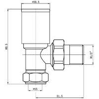 """Matt Black Modern Angled Radiator Valves Rad Heated Towel Rail Pair 15mm 1/2"""""""