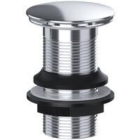 Full Cover Unslotted Basin Sink Waste Chrome Leak Free Solid Brass 32mm VIVA