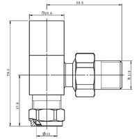 Modern Square Angled Radiator Valves Heated Towel Rail Rad Pair Matt Black 15mm
