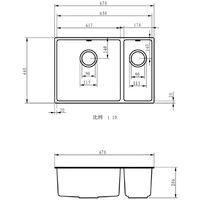 MELIA 1.5 Double Bowl and Half Kitchen Sink & Wastes - Matt Grey