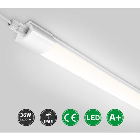 2er Set Feuchtraumleuchte LED Röhre IP65 90cm Lampe Keller Garage außen Weiß DE