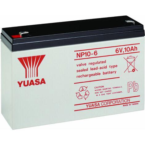 Yuasa NP Series NP10-6 Valve Regulated Lead-Acid Battery SLA 6V 10.0Ah
