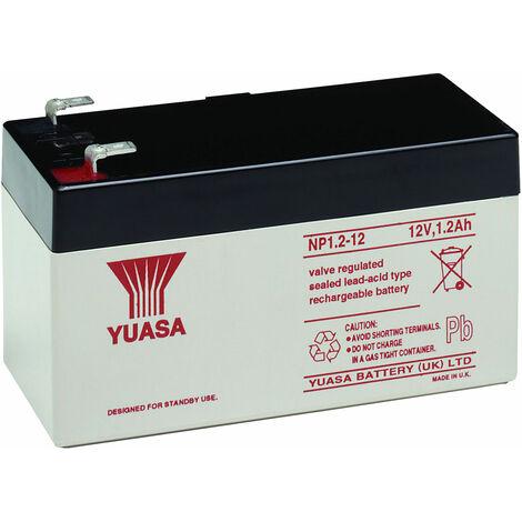 Yuasa NP Series NP1.2-12 Valve Regulated Lead-Acid Battery SLA 12V 1.2Ah
