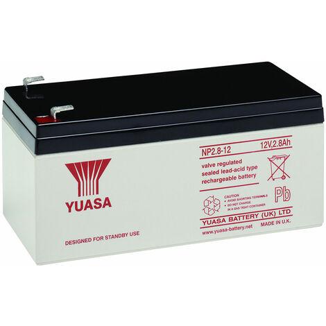 Yuasa NP Series NP2.8-12 Valve Regulated Lead-Acid Battery SLA 12V 2.8Ah