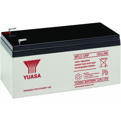 Yuasa NP Series NP3.2-12 Valve Regulated Lead-Acid Battery SLA 12V 3.2Ah
