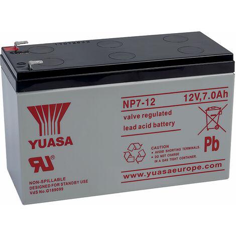 Yuasa NP Series NP7-12 Valve Regulated Lead-Acid Battery SLA 12V 7.0Ah