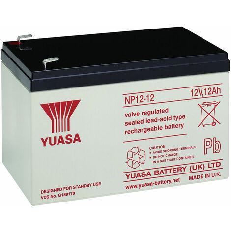 Yuasa NP Series NP12-12 Valve Regulated Lead-Acid Battery SLA 12V 12.0Ah