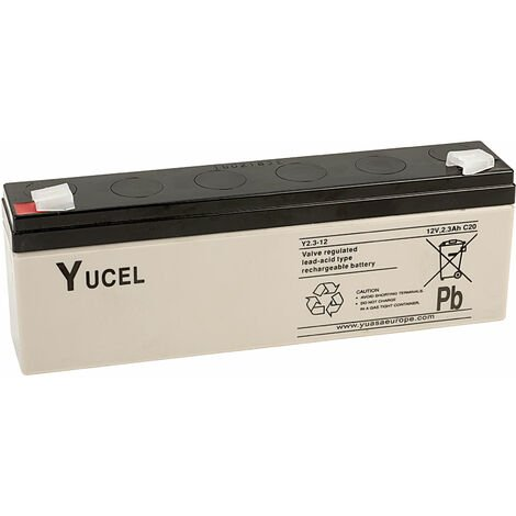 Yuasa Yucel Y2.3-12 Valve Regulated Lead Acid SLA Battery 12V 2.3Ah