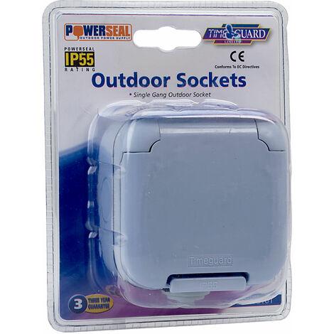 Timeguard TPS101 Economy Outdoor Single Gang Socket