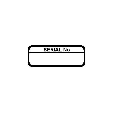 Serial Number Labels, Black Mark & Seal, 40 x 15mm, Pack Of 120