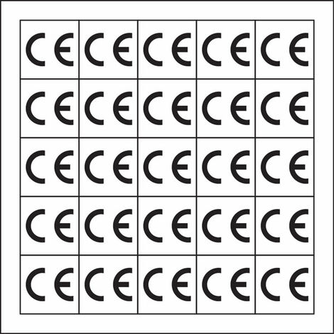 CE Conformity Labels, Black On Self Adhesive Vinyl, 12.7 x 12.7mm, Pack Of 500
