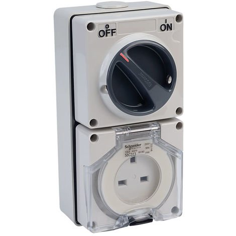 Schneider Electric 56C313GY Clipsal 13A 250V 2 Pin Switched Socket Outlet