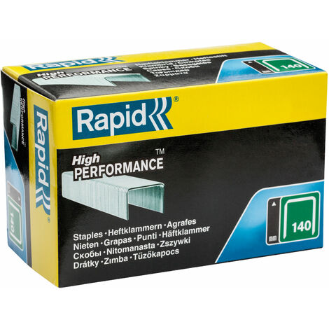 Rapid 11908111 140/8 8mm Galvanised Staples Box Of 5000