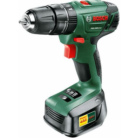 Bosch 06039A3376 PSB 1800 LI-2 Cordless Combi Drill - 1 Battery