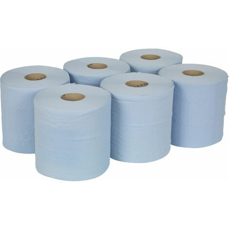Sealey BLU150 Paper Roll Blue 2 Ply Embossed 150mtr Pack Of 6