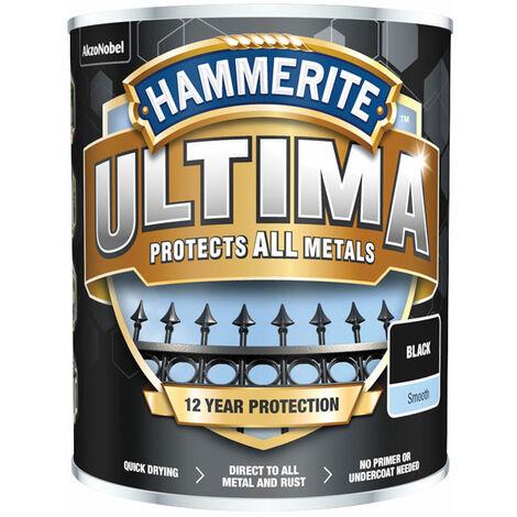 Hammerite 5362526 Ultima Metal Paint Smooth Black 750ml